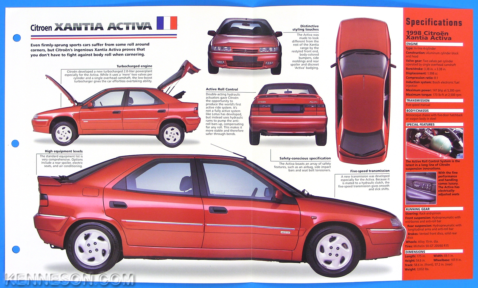 citroen xantia activa france 1995 1998 spec sheet brochure imp hot cars 1 34 ebay. Black Bedroom Furniture Sets. Home Design Ideas