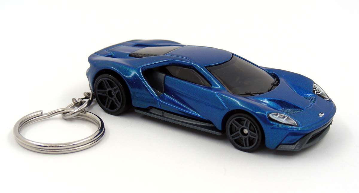 Details About  Ford Gt Blue Key Chain Ring Fob Keychain