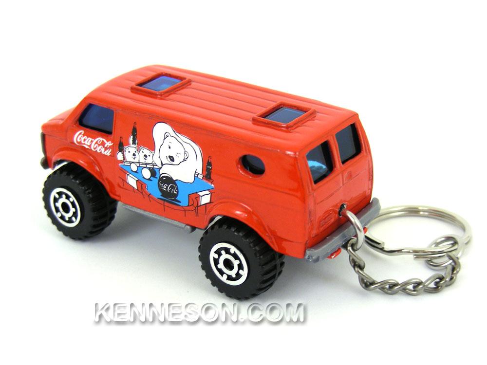 Custom Keychain 4x4 Chevy Van Coca Cola Red Ebay