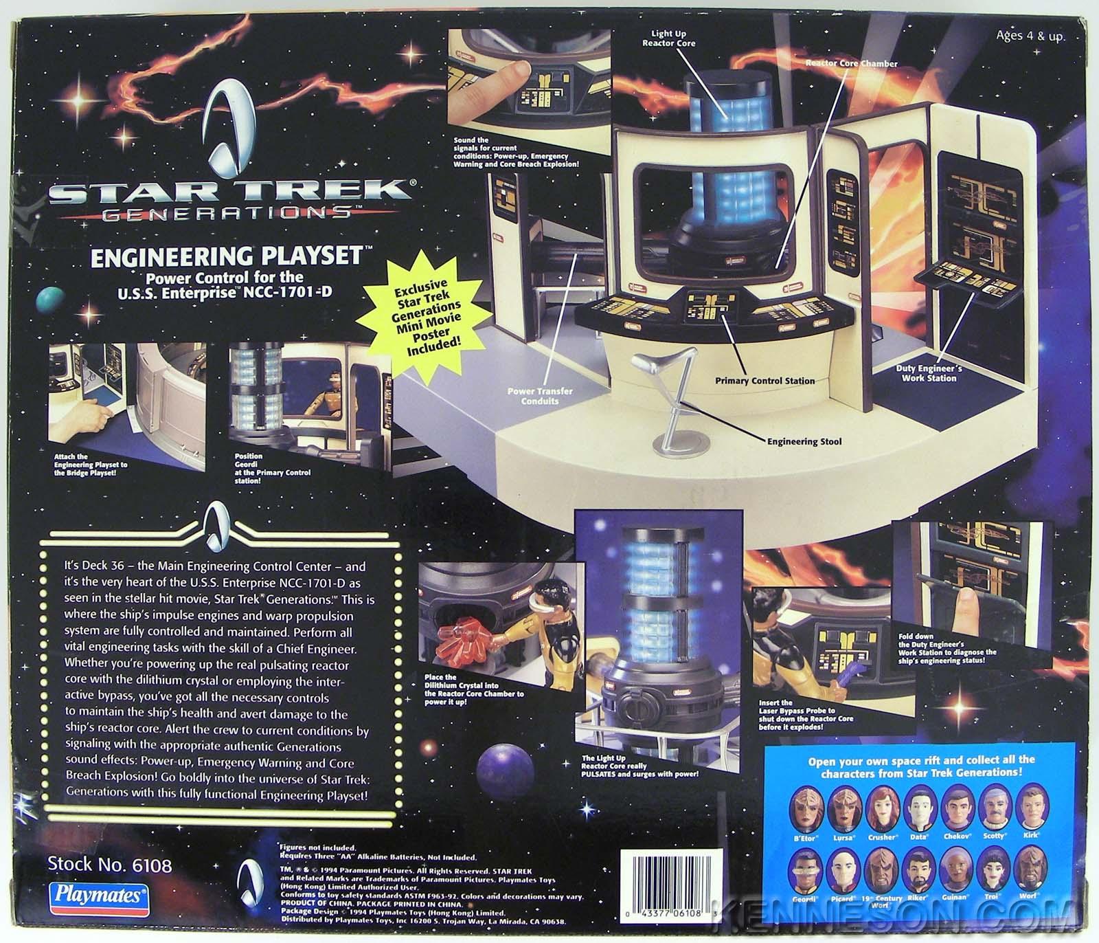 Star Trek Generations Engineering Playset Enterprise Ncc